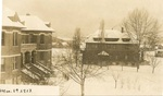 Peterson and Tiffany Halls in Snow, 1913 by Seattle Seminary