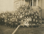 Group in front of Old Music Building, 1905 by Seattle Seminary