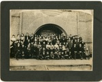Group in front of the Red Brick Building, 1902
