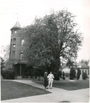 Alexander and Adelaide Halls, circa 1957 by Seattle Pacific College