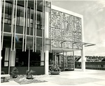 Weter Memorial Library Entrance, circa 1963 by Seattle Pacific College