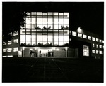 Moyer Hall at night, circa 1954