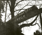 Seattle Pacific College sign, circa 1960