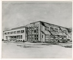 Sketch of Brougham Pavilion, circa 1948