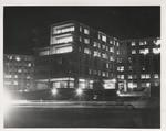 Ashton Hall at night, circa 1965 by Seattle Pacific College