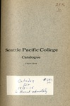 Seattle Pacific College Catalogue 1915-1916
