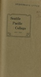 Seattle Pacific College Catalog 1917-1918
