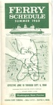Puget Sound Ferry Schedule Summer 1960